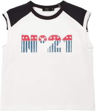 N°21 Logo Printed Cotton T-Shirt