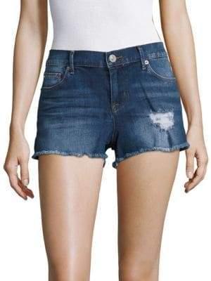 Hudson Raw-Hem Denim Shorts
