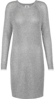 Zoe Karssen Metallic Open-Knit Dress