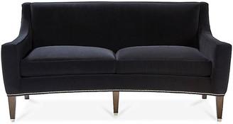 Hickory White Larch Sofa - Black Velvet