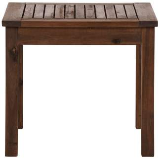 Walker Edison 20 Wood Patio Simple Side Table