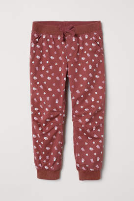 H&M Lined Joggers - Pink