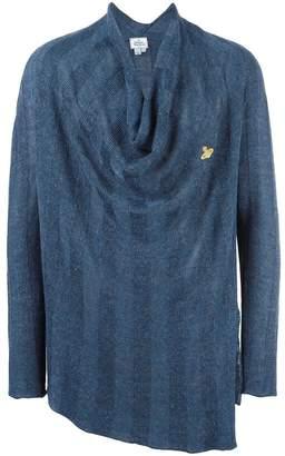 Vivienne Westwood loose-fit draped neck jumper