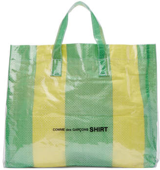 Comme des Garcons Green and Yellow PVC Picnic Tote