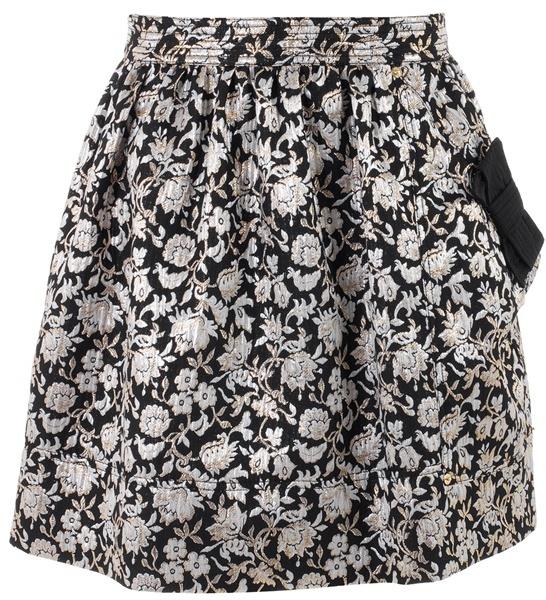 LUELLA - Floral jacquard bow skirt