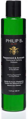 Philip B Peppermint and Avocado volumizing & clarifying shampoo 220ml $34 thestylecure.com