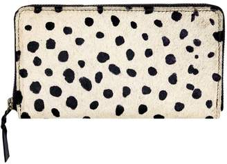 MAHI Leather - Classic Ladies Purse In Spotty Print Pony Hair Leather