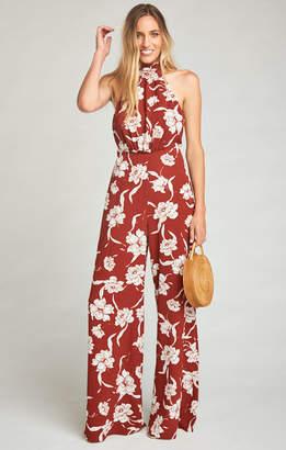 Show Me Your Mumu Norah Jumpsuit ~ Bloom Maple Crinkle Stretch