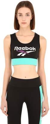 Reebok Classics Logo Printed Sports Bra