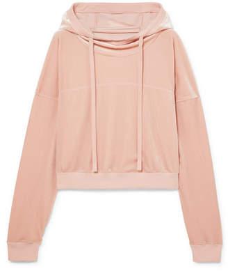 Alo Yoga Velour Hoodie - Baby pink