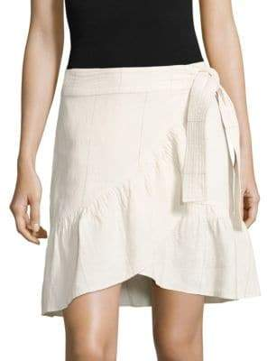 A.L.C. Hampton Ruffled Linen & Silk Skirt