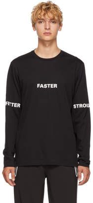 BLACKBARRETT by NEIL BARRETT Black Faster Long Sleeve T-Shirt