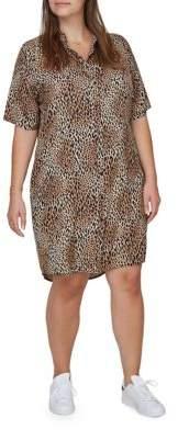 Junarose Plus Printed Dress Shirt