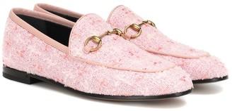Gucci Jordaan tweed loafers