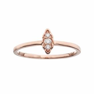 Lauren Conrad 10k Gold Diamond Accent Leaf Ring