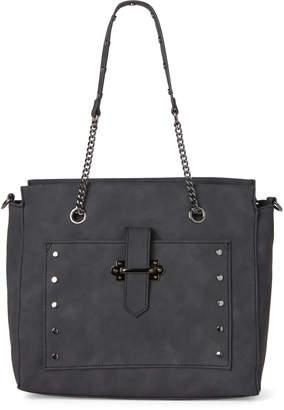 Violet Ray Black Studded Chain Shoulder Bag