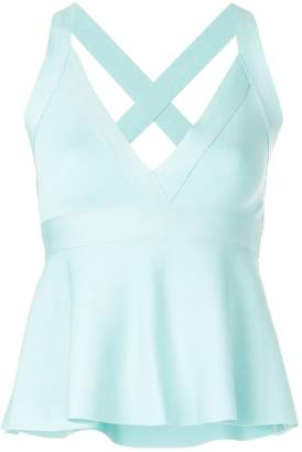 Moschino flared sleeveless top