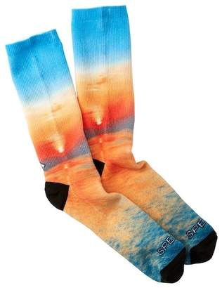 Sperry Sunset on Water Printed Performance Crew Socks