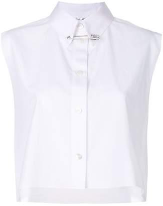Helmut Lang short sleeved cropped shirt