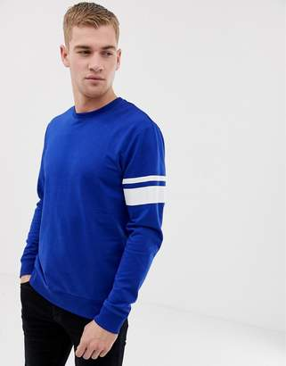 ONLY & SONS Sweatshirt With Arm Stripe