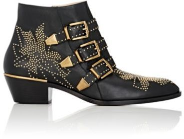Chloé Women's Suzanna Ankle Boots-BLACK