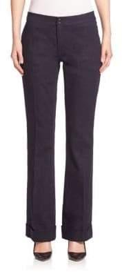 Elie Tahari Bailee Wide-Leg Denim Pants