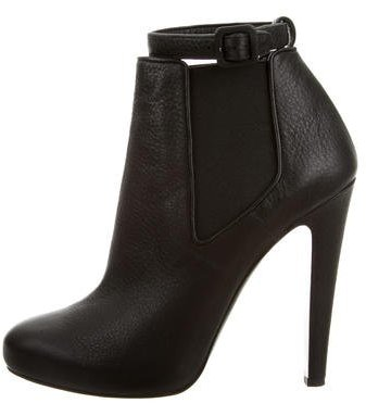 Vera Wang Leather Round-Toe Booties w/ Tags
