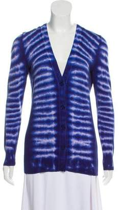 Tory Burch Button-Up Printed Cardigan
