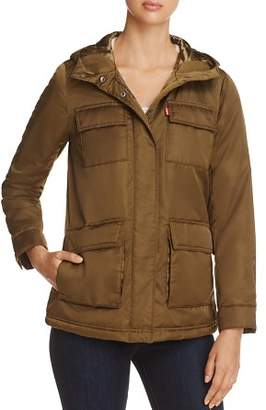 Levi's Faux Fur Lined Four-Pocket Puffer Coat