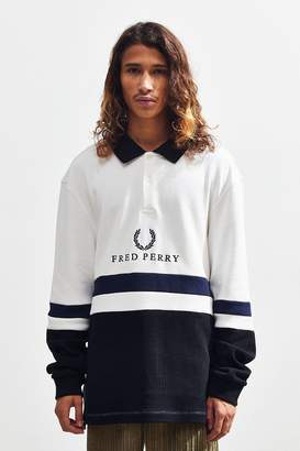 Fred Perry Embroidered Ribbed Sweatshirt