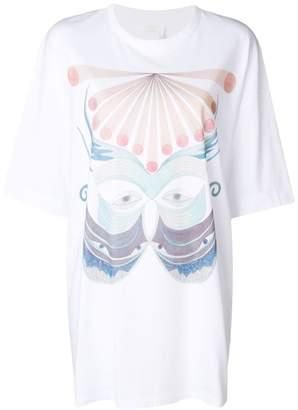 Chloé butterly printed elongated T-shirt