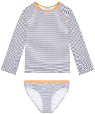 Melissa Odabash Baby Dakota Striped Long-Sleeved Bikini