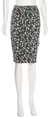 Fleur Du Mal Animal Knit Pencil Skirt