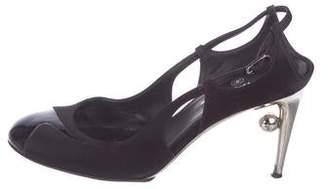 17002e565 Black Satin Round Toe Pumps - ShopStyle