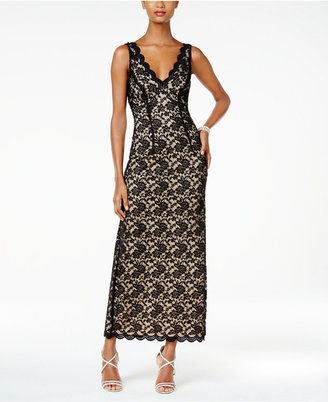Connected Scalloped Lace Column Gown $89 thestylecure.com