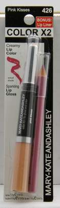 Mary-Kate And Ashley Mary-Kate & Ashley Color X2 Lip Color & Gloss w/ Lip Liner - Pink Kisses 426 by Mary Kate and Ashley