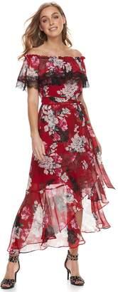 JLO by Jennifer Lopez Women's Off-the-Shoulder Maxi Dress