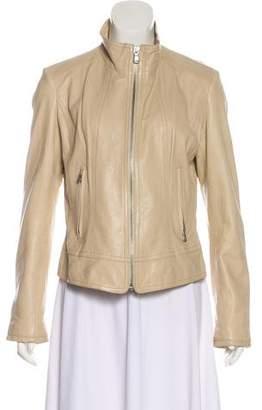 June Leather Zip Up Jacket