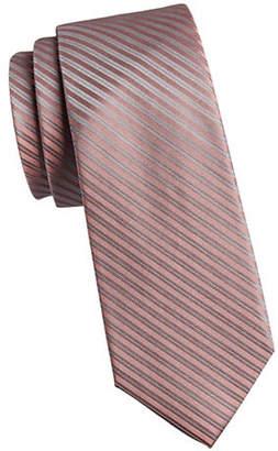 Calvin Klein Mirror Pinstripe Silk Tie