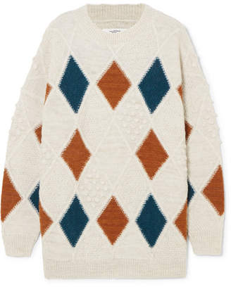 Etoile Isabel Marant Gink Argyle Alpaca-blend Sweater