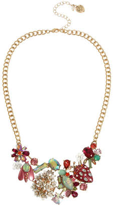 Betsey Johnson Mixed Floral Bib Necklace