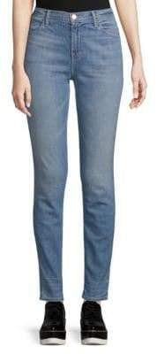 J Brand High-Rise Straight Skinny Jeans