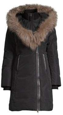 Mackage Women's Kay-X Fox Fur Collar Down Coat - Army - Size Small