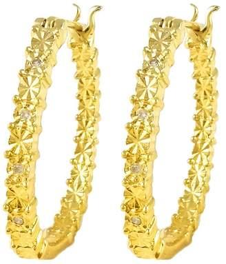 Savvy Cie 18K Gold Vermail Diamond Hoop Earrings - 0.05 ctw