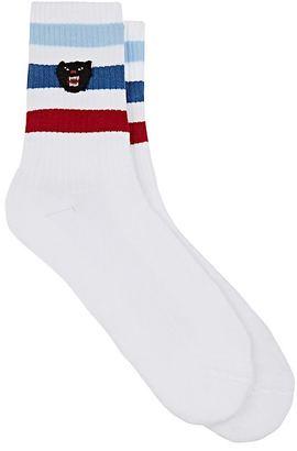 Gucci Men's Striped Mid-Calf Socks $95 thestylecure.com