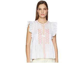 Kate Spade Mosaic Embroidered Tassel Top Women's Clothing