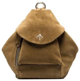 Atelier Manu Green Fernweh Suede Backpack