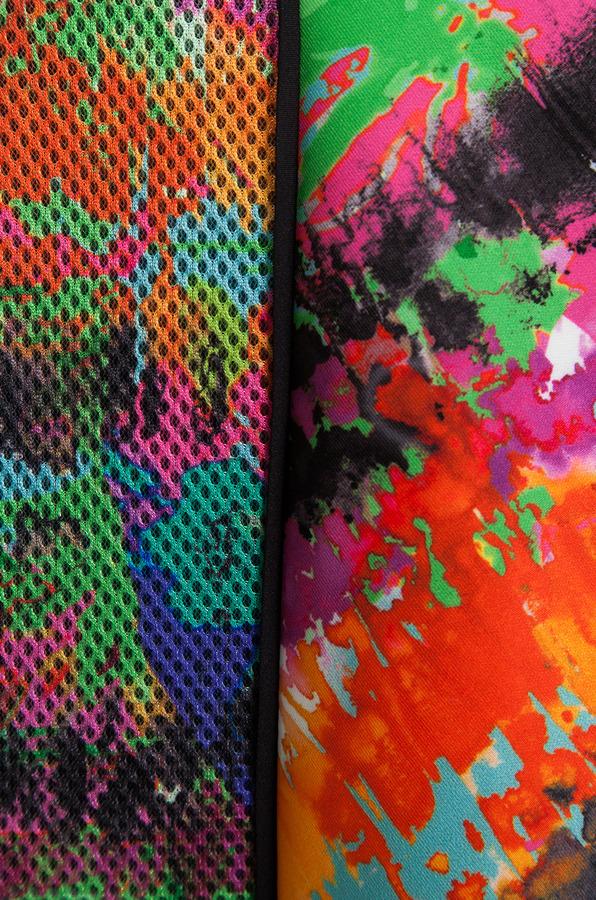 Milly Tropical Print Strapless Flounce Skirt Dress