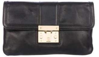 Tory Burch Chain-Link Leather Flap Shoulder Bag