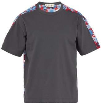 Marni Floral Print Cotton Jersey T Shirt - Mens - Grey